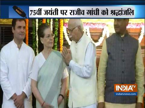 BJP leaders pay tribute to former PM Rajiv Gandhi on his 75th birth anniversary