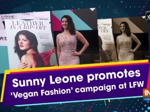 Sunny Leone promotes 'Vegan Fashion' campaign at LFW