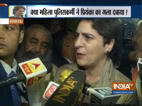 Priyanka Gandhi accuses UP cop of strangulating, manhandling her