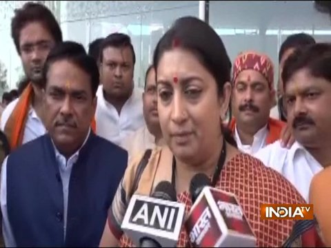 Unnao, Kathua rape case: Rahul Gandhi is politicising the issue, says Smriti Irani