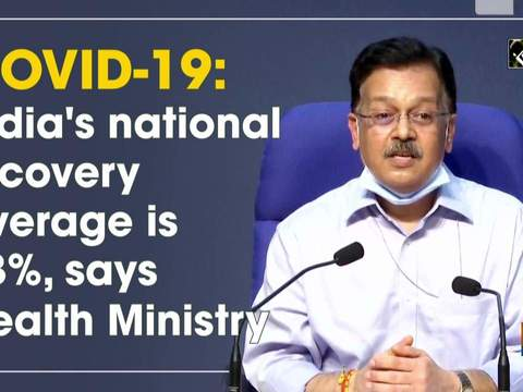 COVID-19: India's national recovery average is 63%, says Health Ministry