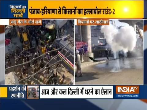 किसान आंदोलन: दिल्ली पुलिस ने टीकरी बॉर्डर पर लाठीचार्ज और आंसू गैस के गोले इस्तेमाल किये