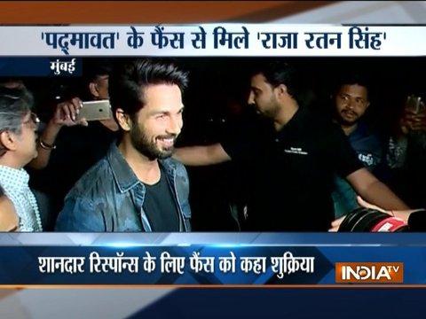 Shahid Kapoor visits Chandan cinema hall in Mumbai