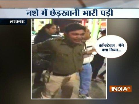 Drunk cop gets beaten-up by public for eve-teasing woman in Lucknow