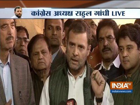 जबतक किसानों का कर्ज माफ नहीं होता तबतक मोदी जी को सोने नहीं देंगे: राहुल गांधी