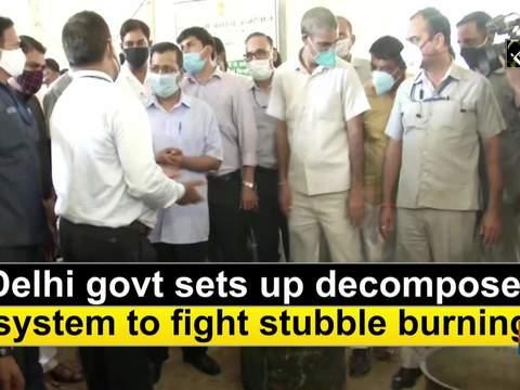 Delhi govt sets up decomposer system to fight stubble burning