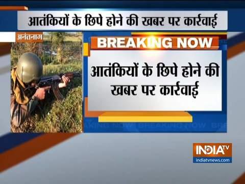 अनंतनाग में आतंकवादियों से सुरक्षा बलों की मुठभेड़ जारी
