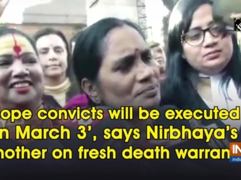 'Hope convicts will be executed on March 3', says Nirbhaya's mother on fresh death warrant