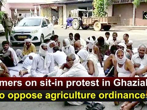 Farmers on sit-in protest in Ghaziabad to oppose agriculture ordinances