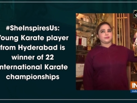 #SheInspiresUs: Young Karate player from Hyderabad is winner of 22 international Karate championships