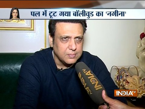 Actor Govinda condoles the death of veteran actress Sridevi Kapoor