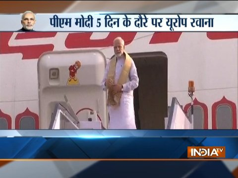 PM Narendra Modi embarks on a five-day visit to Sweden, United Kingdom and Germany