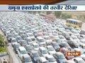 Watch: Passengers stuck in 15-km-long traffic jam on Yamuna expressway