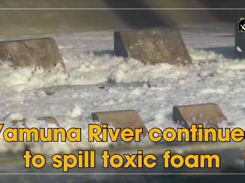 Yamuna River continues to spills toxic foam