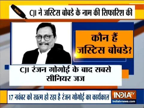 CJI Ranjan Gogoi recommends Justice SA Bobde as his successor