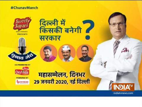 Watch India TV s mega conclave on Delhi Assembly Polls 2020 on 29th January
