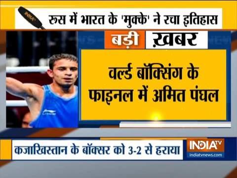 वर्ल्ड चैंपियनशिप के फाइनल में पहुंचने वाले पहले भारतीय बॉक्सर बने अमित पंघल