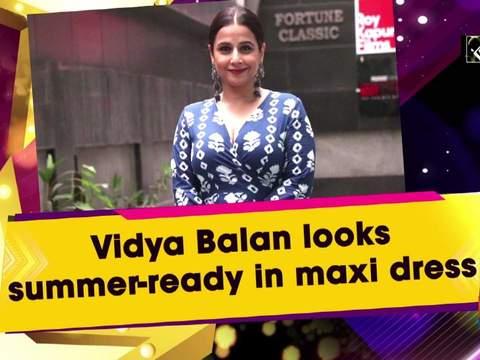 Vidya Balan looks summer-ready in maxi dress