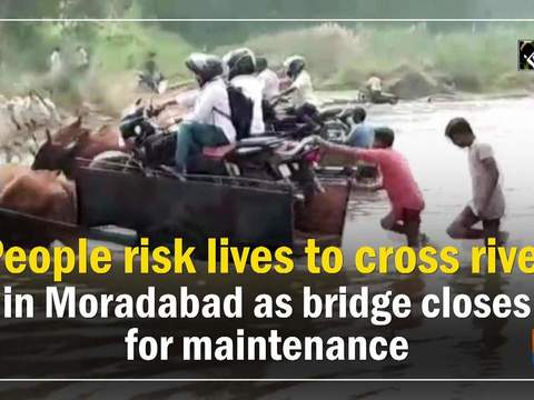 People risk lives to cross river in Moradabad as bridge closes for maintenance