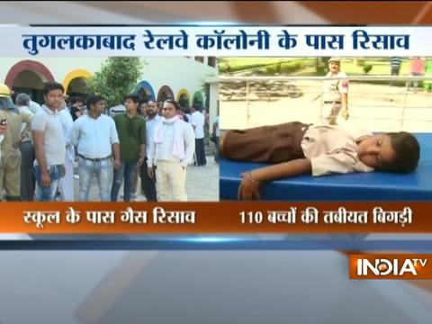 110 students in Tughlakabad admitted to hospital due to gas leakage near the school