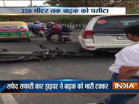 Another hit and run incident takes place in Noida, biker dragged to 250m by a car