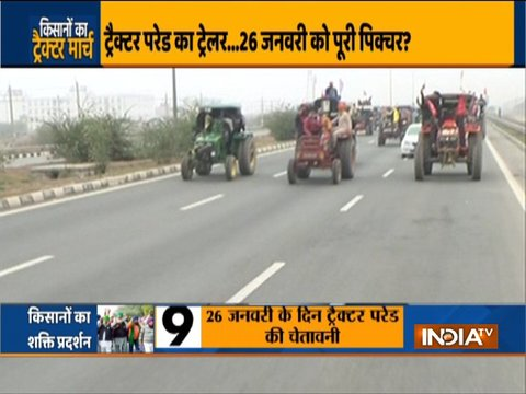 Farmers protesting against the three farm laws hold tractor rally in Maharashtra and in parts of Delhi