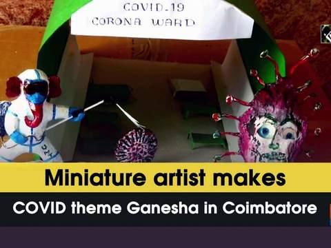Miniature artist makes COVID theme Ganesha in Coimbatore