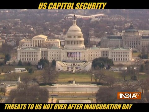 Threats to US not over after Inauguration Day