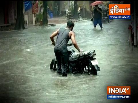 Downpour in different parts of Mumbai