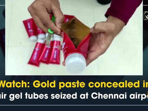 Watch: Gold paste concealed in hair gel tubes seized at Chennai airport