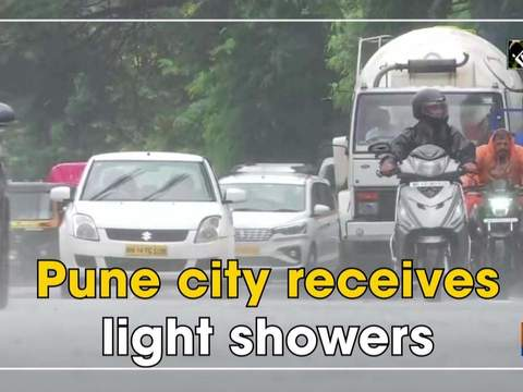 Pune city receives light showers