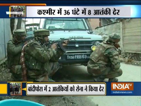 जम्मू-कश्मीर में सुरक्षाबलों ने 36 घंटे के अंदर 8 आतंकियों का किया सफ़ाया