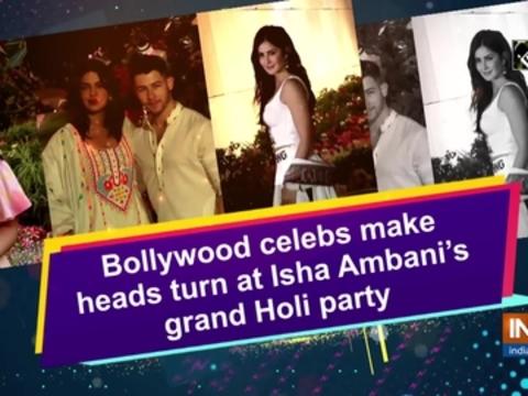 Bollywood celebs make heads turn at Isha Ambani's grand Holi party