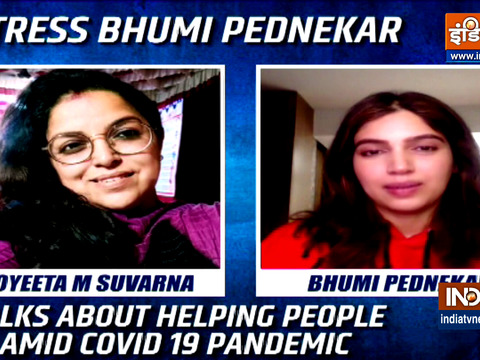 Actress Bhumi Pednekar talks about helping people in the times of COVID-19 pandemic