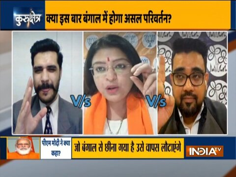 Kurukshetra| Left-TMC-BJP exclusive debate on PM Modi's address at Brigade Maidan