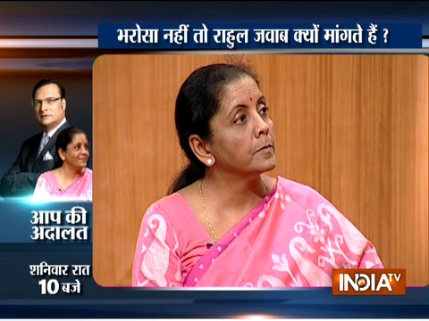 Watch Promo l: Defence Minister Nirmala Sitharaman in Aap Ki Adalat at 10 PM on Saturday