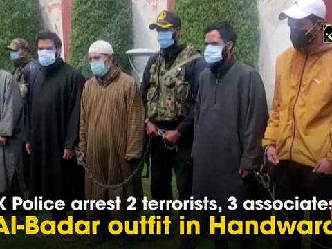 J&K Police arrest 2 terrorists, 3 associates of Al-Badar outfit in Handwara