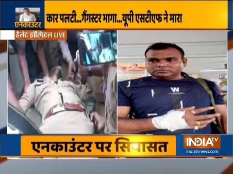 गैंगस्टर विकास दुबे के एनकाउंटर के बाद घायल पुलिसकर्मी कानपुर के लाला लाजपत राय अस्पताल लाया गया