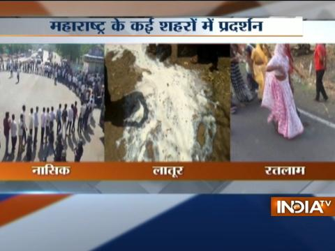 Maharashtra farmers protest cripples milk, vegetable and fruit supplies over loan waiver