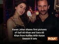 Karan Johar shares first pictures of Saif Ali Khan and Sara Ali Khan from Koffee With Karan Season 6 sets