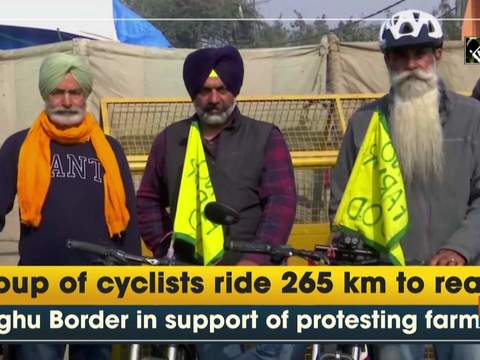 Group of cyclists ride 265 km to reach Singhu Border in support of protesting farmers