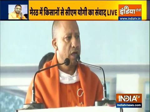 Watch: UP CM Yogi Adityanath address farmers in Meerut