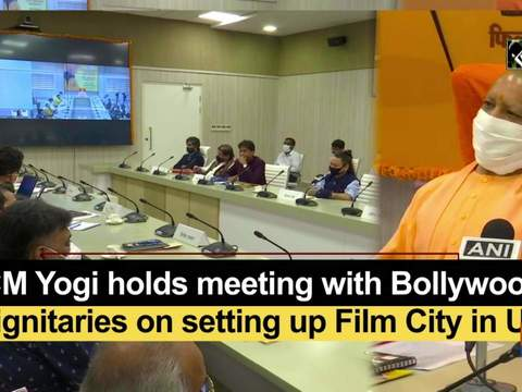 CM Yogi holds meeting with Bollywood dignitaries on setting up Film City in UP