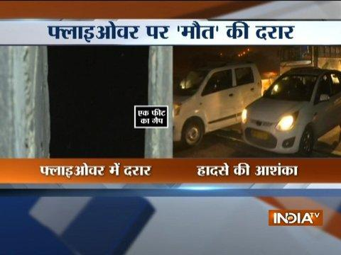 Commuters Still Await PWD To Bridge The Gap On Lajpat Nagar Flyover In Delhi