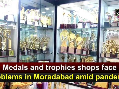 Medals and trophies shops face problems in Moradabad amid pandemic