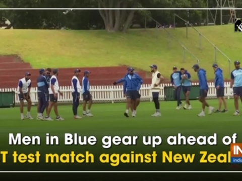 Men in Blue gear up ahead of 1ST test match against New Zealand