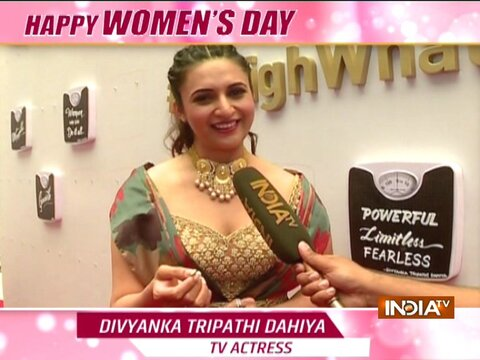 Actress Divyanka Tripathi celebrates #HarDinWOMENsDay with India TV