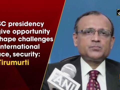 UNSC presidency to give opportunity to shape challenges on international peace, security: TS Tirumurti