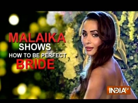 Malaika Arora walks for Kashmirra Gandhi as a beautiful bride
