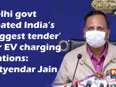 Delhi govt floated India's 'biggest tender' for EV charging stations: Satyendar Jain